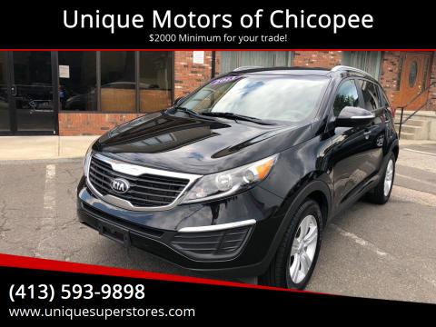 2013 Kia Sportage for sale at Unique Motors of Chicopee in Chicopee MA