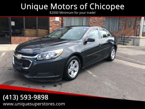 2015 Chevrolet Malibu for sale at Unique Motors of Chicopee in Chicopee MA