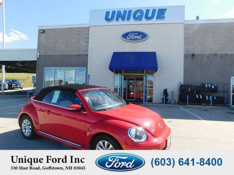 2017 Volkswagen Beetle Convertible for sale at Unique Motors of Chicopee - Unique Ford in Goffstown NH