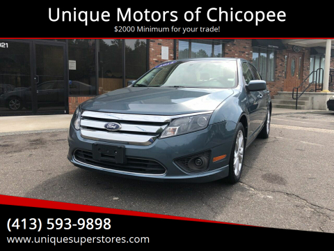 2012 Ford Fusion for sale at Unique Motors of Chicopee in Chicopee MA