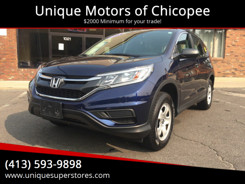 2015 Honda CR-V for sale at Unique Motors of Chicopee in Chicopee MA
