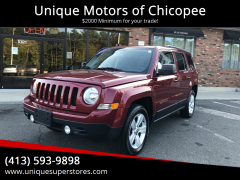 2013 Jeep Patriot for sale at Unique Motors of Chicopee in Chicopee MA