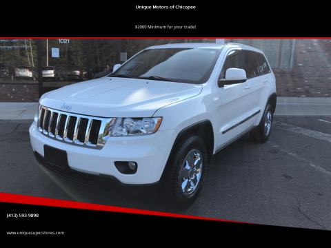 2012 Jeep Grand Cherokee for sale at Unique Motors of Chicopee in Chicopee MA