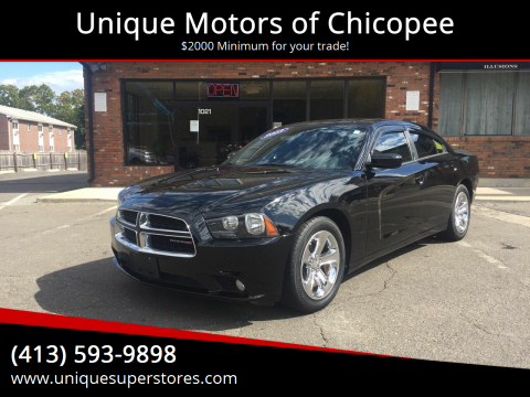 2013 Dodge Charger for sale at Unique Motors of Chicopee in Chicopee MA