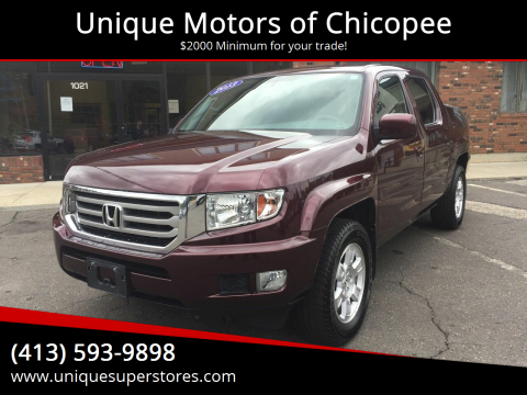 2013 Honda Ridgeline for sale at Unique Motors of Chicopee in Chicopee MA