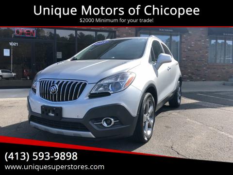 2013 Buick Encore for sale at Unique Motors of Chicopee in Chicopee MA