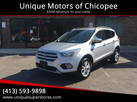 2018 Ford Escape for sale at Unique Motors of Chicopee in Chicopee MA
