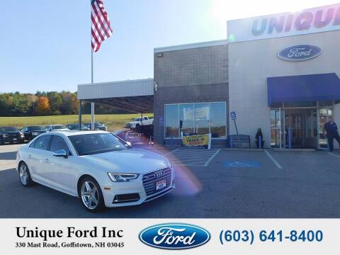 2018 Audi S4 for sale at Unique Motors of Chicopee - Unique Ford in Goffstown NH