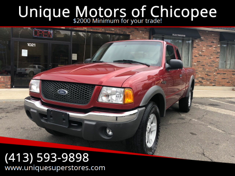 2003 Ford Ranger for sale at Unique Motors of Chicopee in Chicopee MA