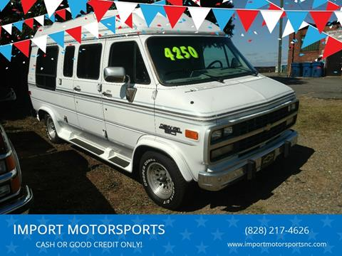 1995 Chevrolet Chevy Van for sale at IMPORT MOTORSPORTS in Hickory NC