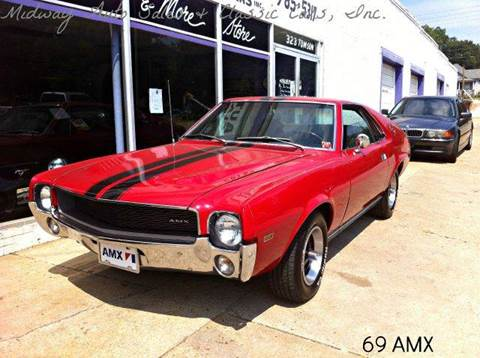 1969 AMC AMX for sale at MIDWAY AUTO SALES & CLASSIC CARS INC in Fort Smith AR