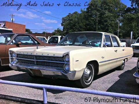 1967 Plymouth Fury for sale at MIDWAY AUTO SALES & CLASSIC CARS INC in Fort Smith AR