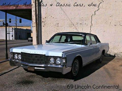 1969 Lincoln Continental for sale at MIDWAY AUTO SALES & CLASSIC CARS INC in Fort Smith AR