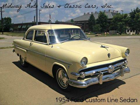 1954 Ford CustomLine for sale at MIDWAY AUTO SALES & CLASSIC CARS INC in Fort Smith AR