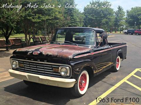 1963 Ford F-100 for sale at MIDWAY AUTO SALES & CLASSIC CARS INC in Fort Smith AR