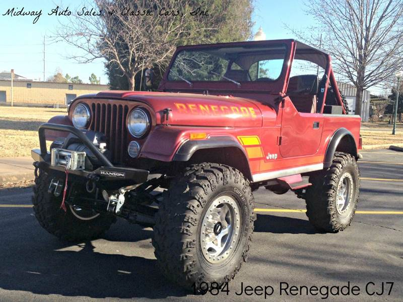1984 Jeep CJ-7 for sale at MIDWAY AUTO SALES & CLASSIC CARS INC in Fort Smith AR