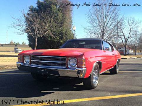 1971 Chevrolet Malibu for sale at MIDWAY AUTO SALES & CLASSIC CARS INC in Fort Smith AR
