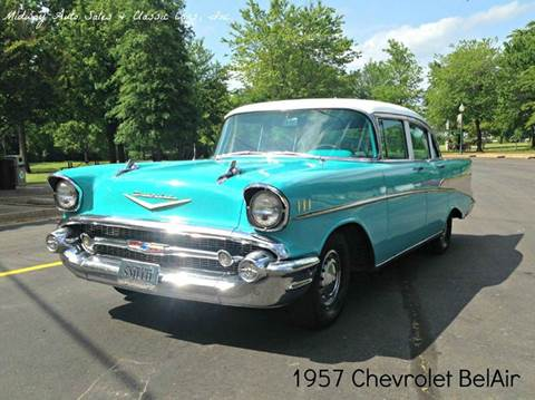 1957 Chevrolet Bel Air for sale at MIDWAY AUTO SALES & CLASSIC CARS INC in Fort Smith AR