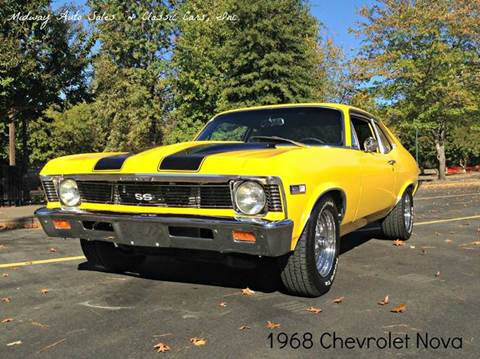 1968 Chevrolet Nova for sale at MIDWAY AUTO SALES & CLASSIC CARS INC in Fort Smith AR