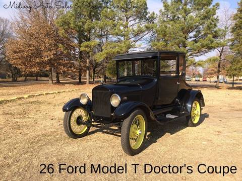 1926 Ford Model T for sale at MIDWAY AUTO SALES & CLASSIC CARS INC in Fort Smith AR