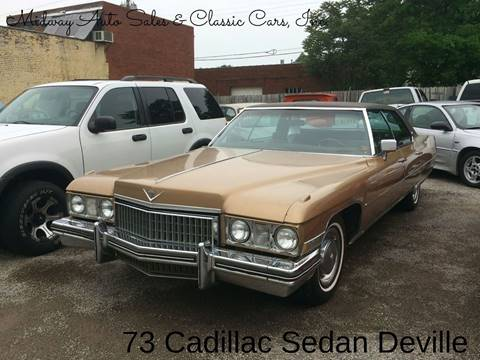 1973 Cadillac DeVille for sale at MIDWAY AUTO SALES & CLASSIC CARS INC in Fort Smith AR