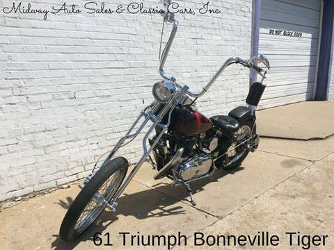 1961 Triumph Bonneville Tiger for sale at MIDWAY AUTO SALES & CLASSIC CARS INC in Fort Smith AR
