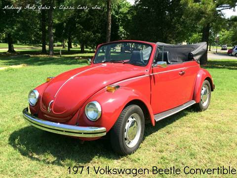 1971 Volkswagen Beetle Convertible for sale at MIDWAY AUTO SALES & CLASSIC CARS INC in Fort Smith AR