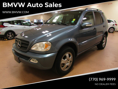 2004 Mercedes-Benz M-Class for sale at BMVW Auto Sales in Union City GA