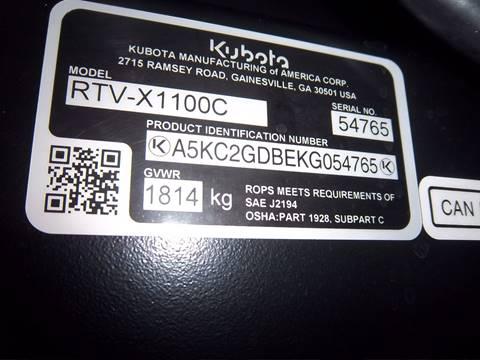 2019 Kubota RTV-X1100C