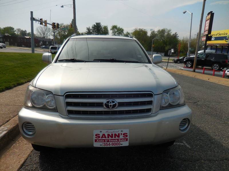 2003 Toyota Highlander Fwd 4dr SUV - Baltimore MD