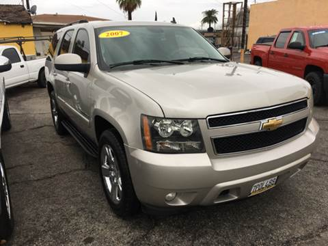 2007 Chevrolet Tahoe for sale at JR'S AUTO SALES in Pacoima CA