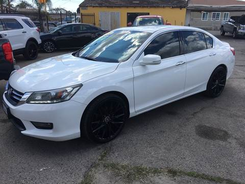 2014 Honda Accord EX-L V6 for sale at JR'S AUTO SALES in Pacoima CA