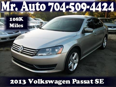 2013 Volkswagen Passat for sale at Mr Auto Sales in Charlotte NC