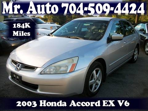 2003 Honda Accord for sale at Mr Auto Sales in Charlotte NC