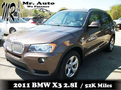 2011 BMW X3 for sale at Mr Auto Sales in Charlotte NC