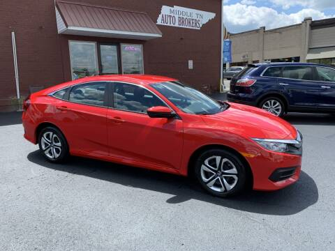 2018 Honda Civic for sale at Middle Tennessee Auto Brokers LLC in Gallatin TN