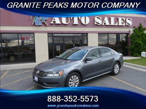 2014 Volkswagen Passat for sale in Pleasant Grove, UT