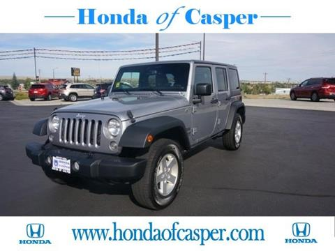 2015 Jeep Wrangler Unlimited for sale in Casper, WY