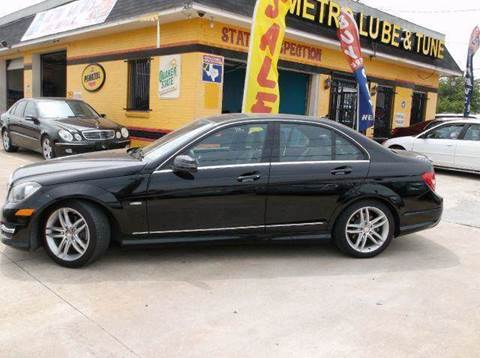 2012 Mercedes-Benz C-Class for sale at N & A Metro Motors in Dallas TX