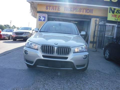2013 BMW X3 for sale at N & A Metro Motors in Dallas TX