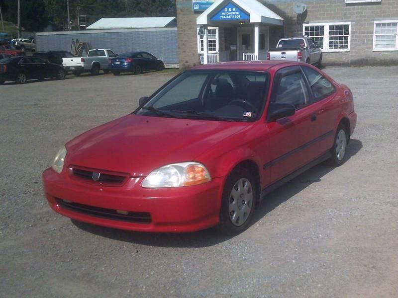 1996 Honda Civic DX 2dr Coupe   Mount Pleasant PA