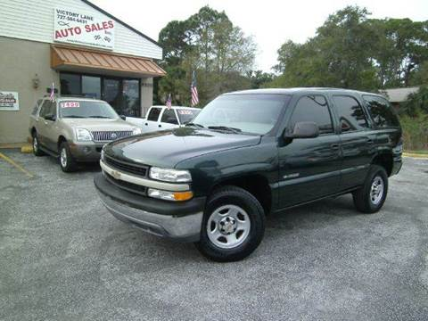 2001 Chevrolet Tahoe for sale at VICTORY LANE AUTO SALES in Port Richey FL