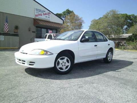 2002 Chevrolet Cavalier for sale at VICTORY LANE AUTO SALES in Port Richey FL