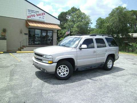 2005 Chevrolet Tahoe for sale at VICTORY LANE AUTO SALES in Port Richey FL