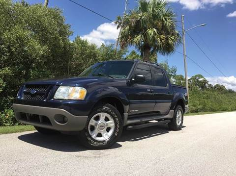 2002 Ford Explorer Sport Trac for sale at VICTORY LANE AUTO SALES in Port Richey FL