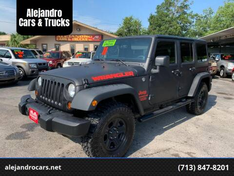 2011 Jeep Wrangler Unlimited for sale at Alejandro Cars & Trucks in Houston TX