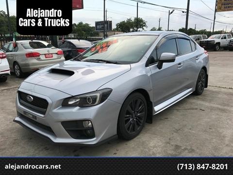 2015 Subaru WRX for sale at Alejandro Cars & Trucks in Houston TX