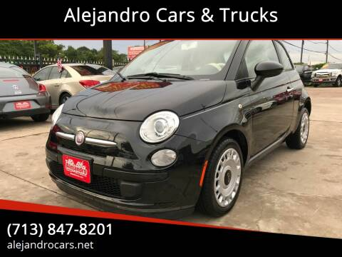 2013 FIAT 500 for sale at Alejandro Cars & Trucks in Houston TX