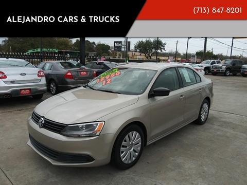 2012 Volkswagen Jetta for sale at Alejandro Cars & Trucks in Houston TX