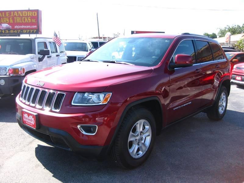 2014 Jeep Grand Cherokee for sale at Alejandro Cars & Trucks in Houston TX